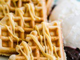 Lemon waffles with blueberry compote: America's Best Breakfasts