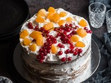 Orange Blueberry Layer cake