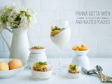 Panna Cotta with Roasted Peaches