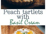 Peach Curd Tarts with Basil Whipped cream