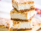Pumpkin Maple Butter Swirled Cheesecake Bars