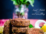 Shami Kebabs: Lamb kebabs with mint onion stuffing