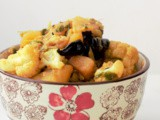 Aloo Gobi Methi Sabzi, Dry Potato Cauliflower Fenugreek Stir Fry Recipe