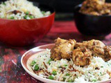 Pepper Chicken Dry recipe, Peas Garlic Fried Rice