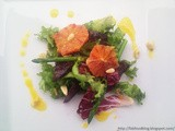 Asparagus, beetroot & blood orange salad, orange sauce