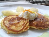 Ricotta pancakes pears citrus syrup