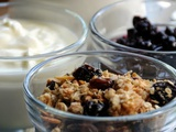 Honey Nut Toasted Oats with Ribena Berry Sauce