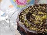 We Should Cocoa: Vegan Chocolate Cake with Pistachio Nuts (From Leon Baking & Puddings)
