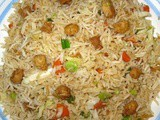 Chicken Egg Fried Rice Preparation