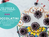 Cioccolatini con gelato, amarene e kroccant Fabbri • Ice-cream and black cherry chocolates