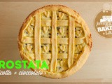 Crostata ricotta e gocce di cioccolato • Ricotta cheese and chocolate chips Pie