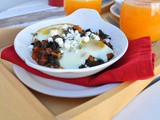 Carrot & Kale Hash with Broiled Eggs