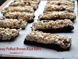Chewy Puffed Brown Rice Bars