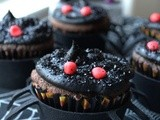 Dark Chocolate Salted Caramel Spider Cupcakes