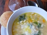 Emeril's One-Pot Blogging Party: Tuscan White Bean Soup with Broccoli Rabe- Post 8