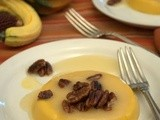 Pumpkin Coconut Panna Cotta with Gingered Pecans & Bourbon Glaze