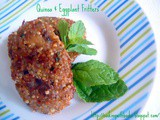 Quinoa & Eggplant Fritters - a Guest Post from Nelly at Cooking with Books