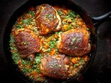 Crispy Berbere Chicken with Ethiopian Lentils
