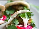 Falafels with Home Made Pita and Creamy Tahini Sauce