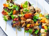 Grilled Jerk Chicken and Peach Skewers