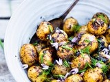 Grilled Potato Salad with Black Garlic Vinaigrette