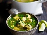 Kofta Soup with Spinach