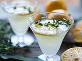 Meyer Lemon Gimlet with Thyme Simple Syrup