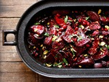 Moroccan Roasted Beets w/ Balsamic Glaze, Pomegranate and Pistachio