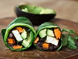 Roasted Yam Collard Green Wrap