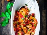 Shaved Carrot Salad with Pistachio and Pomegranate Vinaigrette