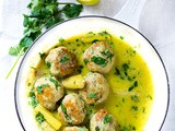 Thai Turkey Meatballs with Lemongrass Coconut  Sauce