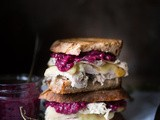 Turkey Brie Grilled Cheese Sandwich with Cranberry Mustard