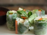 Vietnamese Salad Rolls with Daikon, Avocado and Mint