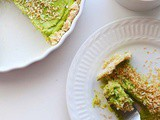 Dreamy Frozen Avocado Lime Tart