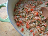 Farro Risotto with Red Pepper and Scallions