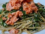 Linguine with Salmon and Kale