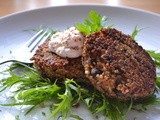Quinoa and Black Bean Burgers with Lemon and Horseradish Aioli