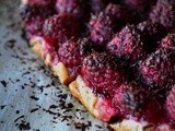 Raspberry Galette with Dark Chocolate
