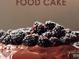Classic Devil's Food Cake topped with Blackberries