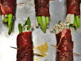 Enoki and Asparagus Beef Rolls