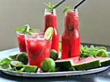 Watermelon, Lime and Mint Juice