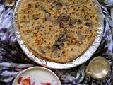 Gobi Paratha/ Cauliflower Paratha : Its a Purple Gobi / Cauliflower Partha