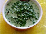 Mor Keera Kootu / Spinach In Yogurt Sauce