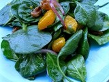 Spinach Salad With Madarine Orange And Candied Walnut In 10 Minutes