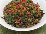 Swiss Chard With Roasted Besan/ Swiss Chard With Kadala Mavu Paruppu Usili In 20 Minutes