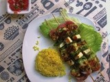 Lemon & Mint Chicken Halloumi Skewers