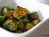 Japanese stir-fried okra vegetable recipe