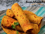 Besan Masala Roti | Spicy Chickpea flour Indian Flatbread