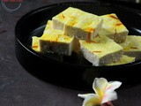 Bhapa Sondesh | Steamed Cottage Cheese Fudge (microwave steaming)