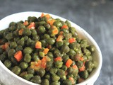 Green Chickpea Salad in Mustard Vinaigrette